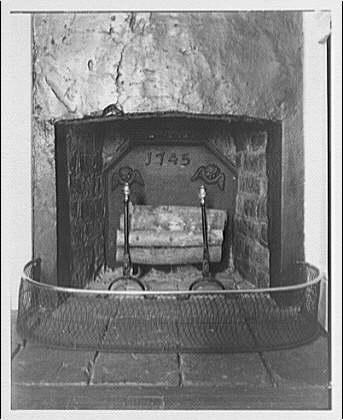 Stratford Hall. Nursery room fireplace at Stratford Hall