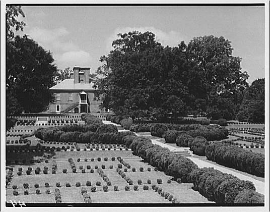Stratford Hall. View of garden at Stratford Hall I
