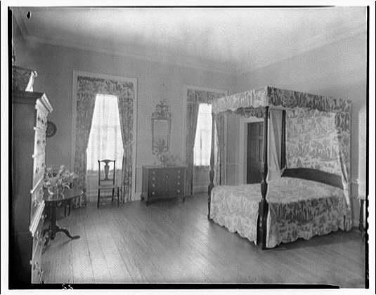 Stratford, Lee family estate. Bedroom at Stratford