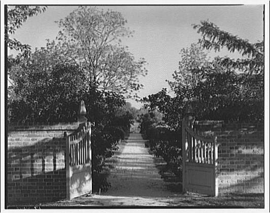Stratford, Lee family estate. Gates to garden at Stratford II