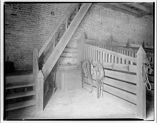 Stratford, Lee family estate. Interior of stable at Stratford I
