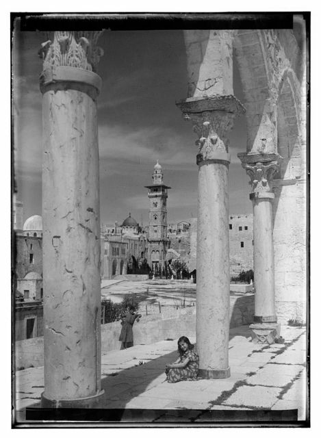 [Temple area with Tower of Antonia in background, Jerusalem]
