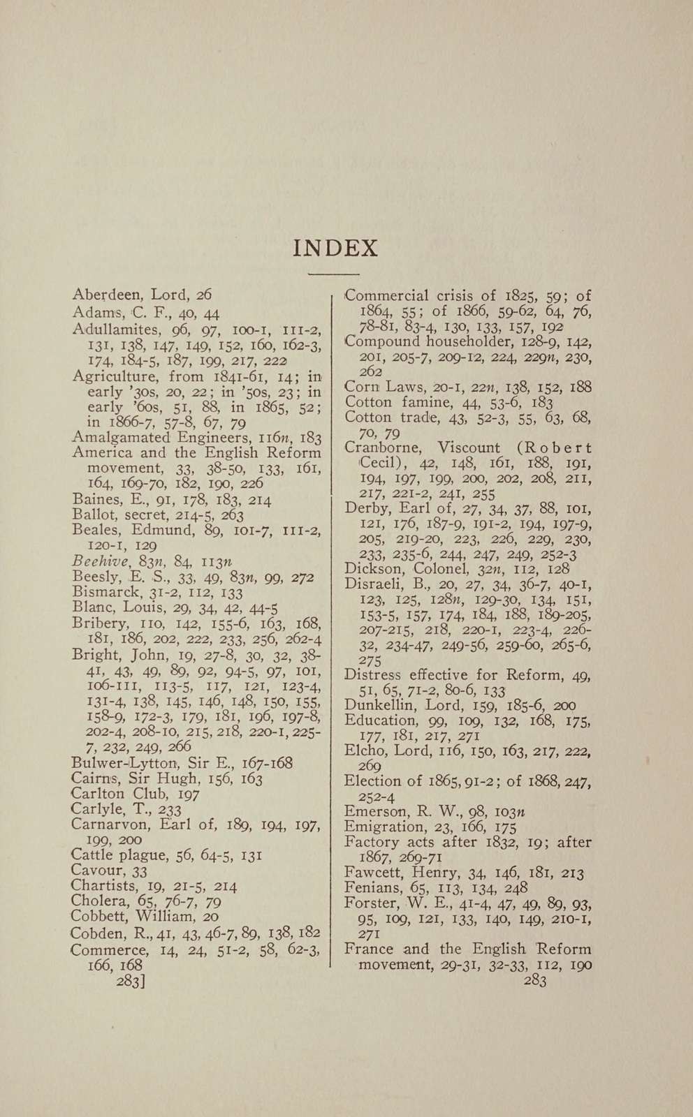The English reform bill of 1867,