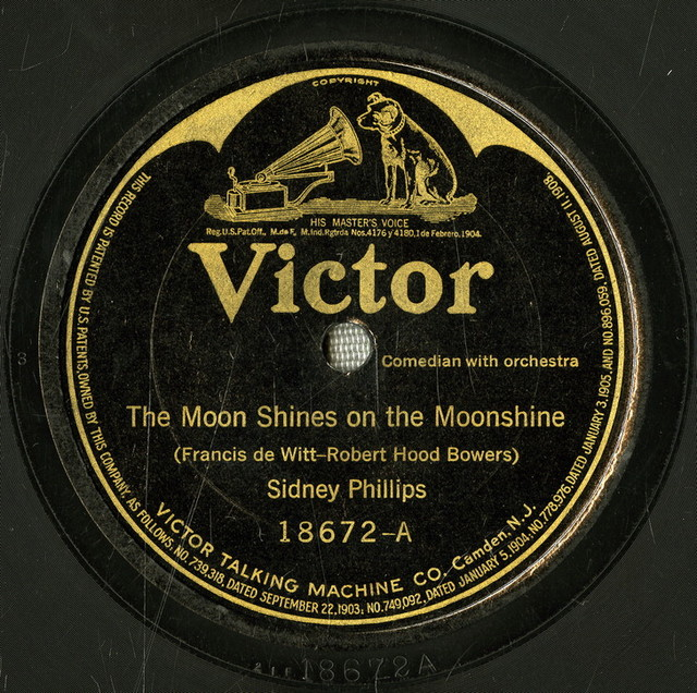 The moon shines on the moonshine