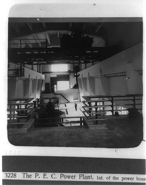 The P.E.C. [Palestine Electric Corporation] Power Plant: Interior of the power house