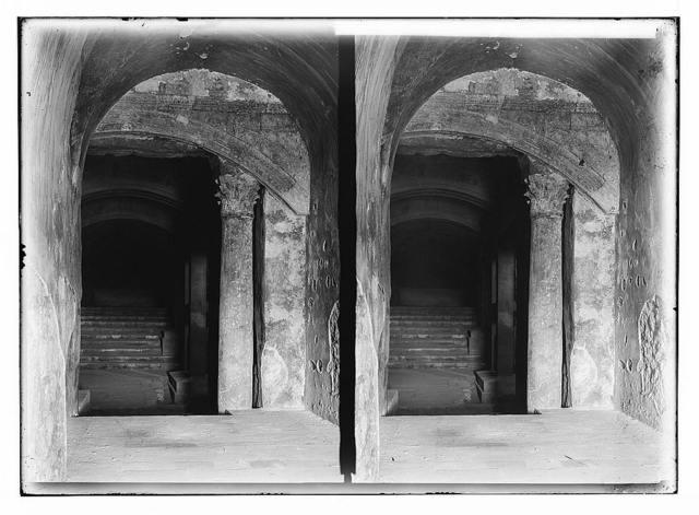 The Temple area. The Double Gate. Ancient entrance to temple beneath el Aksa [i.e., al-Aqsa].