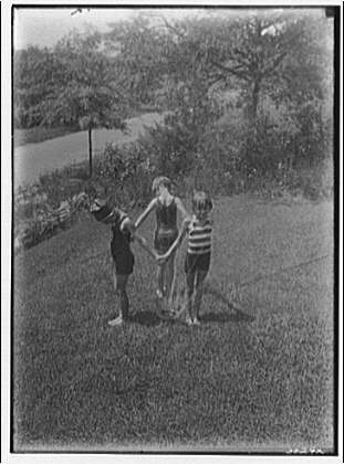 Theodor Horydczak and family. Norma Horydczak and two friends in bathing suits I