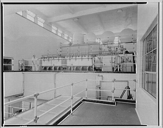 Thompson Dairy. Interior of Thompson Dairy, 11th and U Sts.