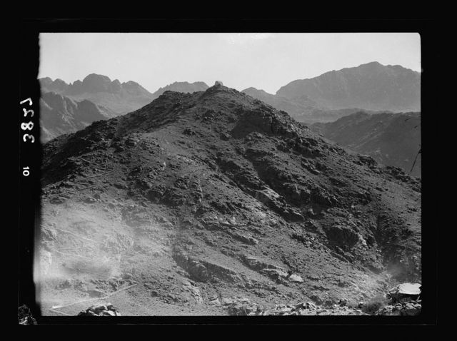 To Sinai by car. Hill of the burning bush. East of the monastery