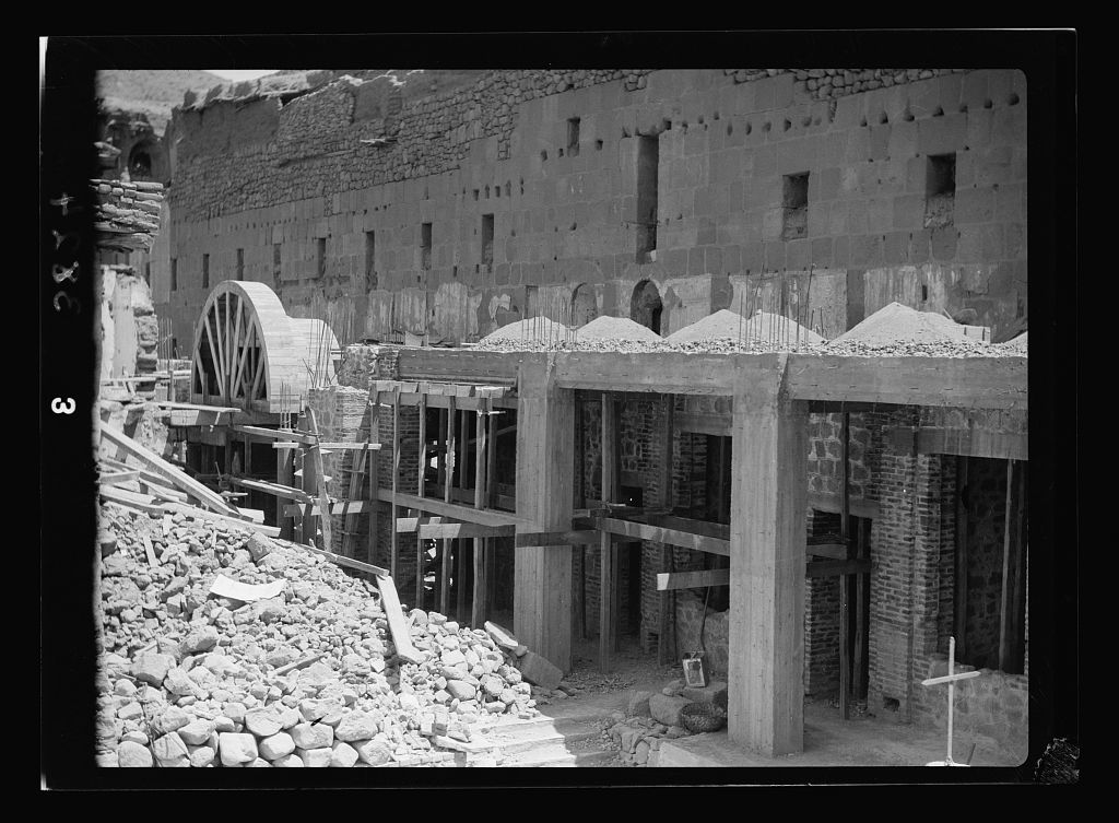 To Sinai by car. St. Katherine's [i.e., St. Catherine's] Monastery in Sinai. Construction of additional rooms