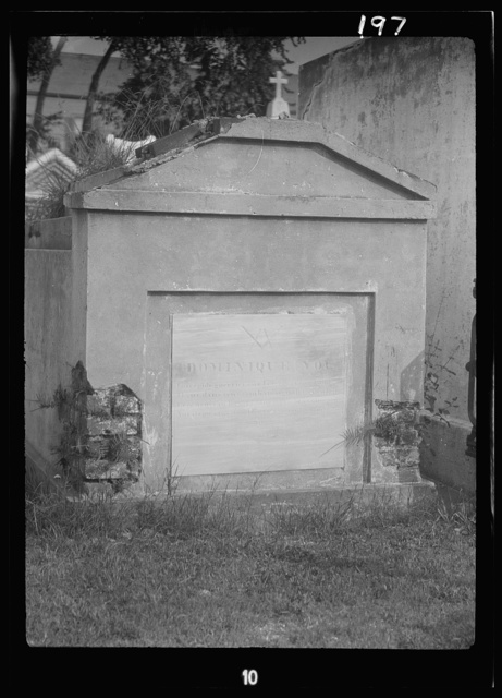Tomb of Dominique You, St. Louis Cemetery, New Orleans