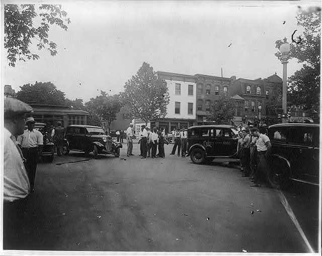 Traffic accident at 14th and Q Streets, N.W., Washington, D.C.