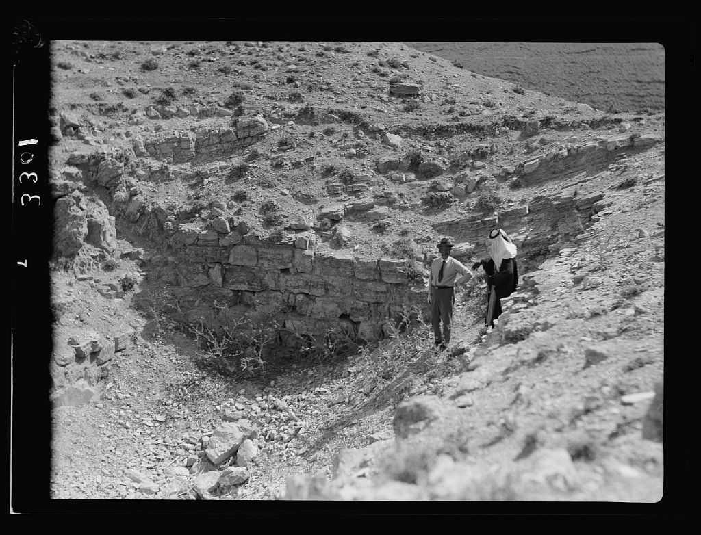 Transjordan. East of the Dead Sea. Machaerus. Remains of dungeons on Castle Hill