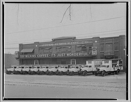 Trucks. G.M.C. in front of Wilkins Coffee building, from Sterret Operating Service I