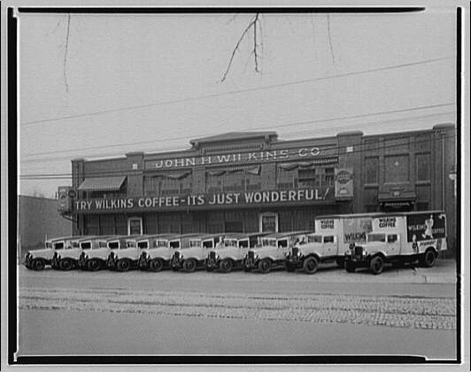 Trucks. G.M.C. in front of Wilkins Coffee building, from Sterret Operating Service II