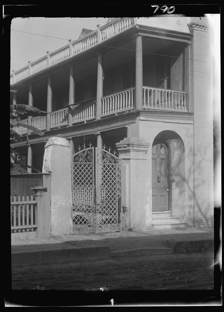 Two-story house, New Orleans or Charleston, South Carolina
