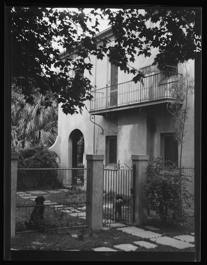Two story house, New Orleans or Charleston, South Carolina