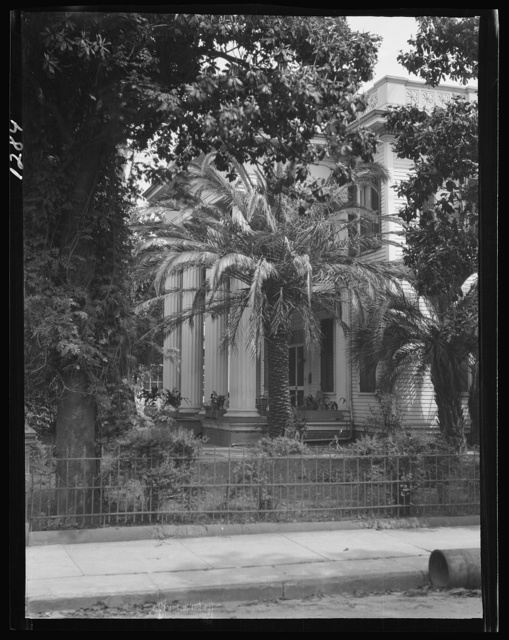 Two-story house with columned porch, New Orleans or Charleston, South Carolina