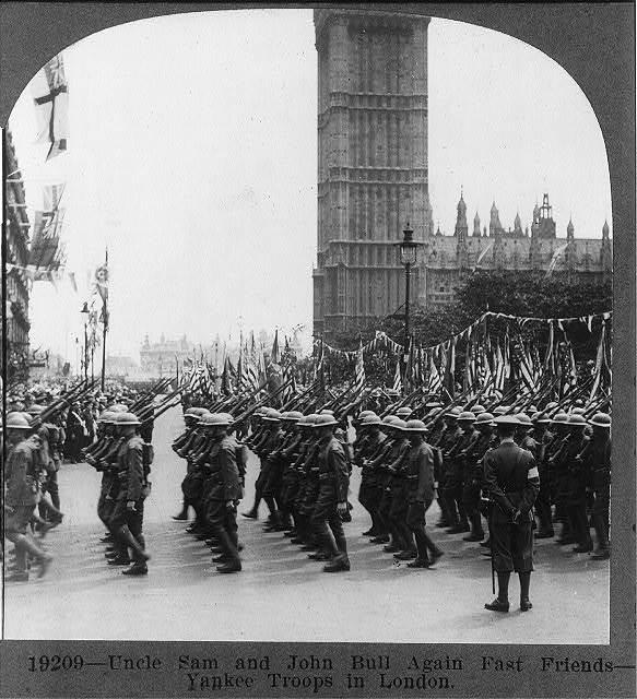 Uncle Sam and John Bull again fast friends - Yankee Troops in London