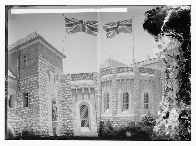 Union Jack flying for the first time over Government House