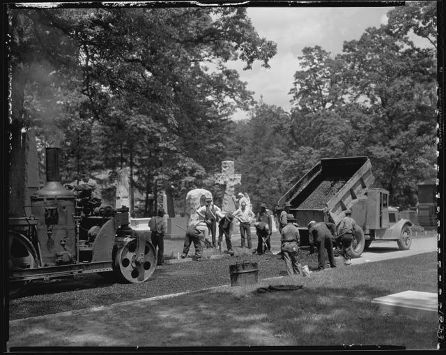 Union Paving Co. Paving in Arlington National Cemetery