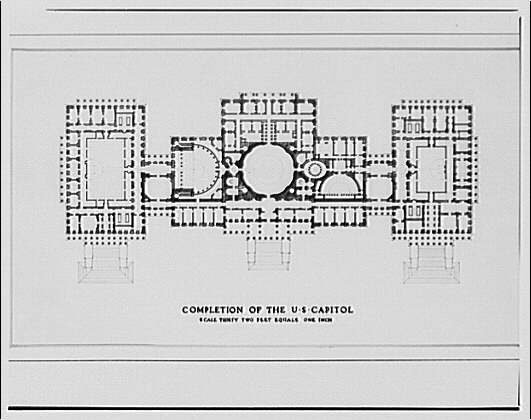U.S. Capitol. Drawings of completion of U.S. Capitol
