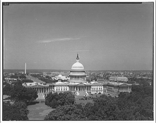 U.S. Capitol exteriors. U.S. Capitol and panorama of Washington II