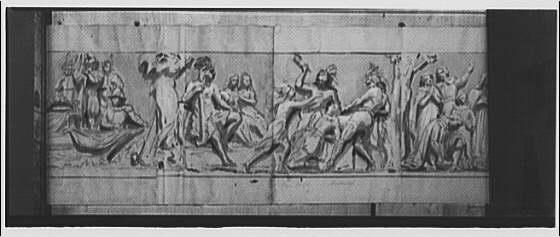 U.S. Capitol frescoes. Captain Smith and Pocahontas