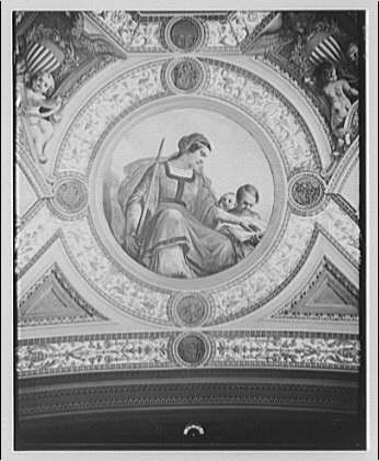 U.S. Capitol frescoes. Fresco in President's room in U.S. Capitol VIII
