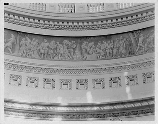 U.S. Capitol frescoes. Fresco in rotunda in U.S. Capitol I