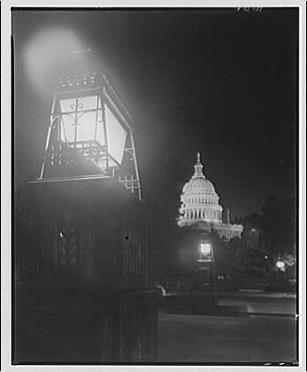 U.S. Capitol. Night view of U.S. Capitol