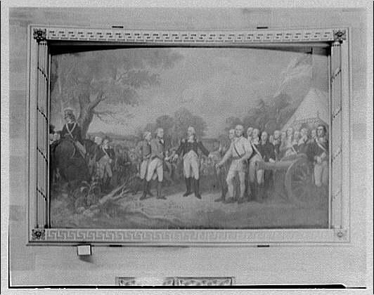 U.S. Capitol paintings. Surrender of General Bourgogne