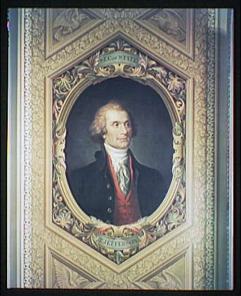 U.S. Capitol paintings. Thomas Jefferson, Secretary of State, close-up, painting in U.S. Capitol I