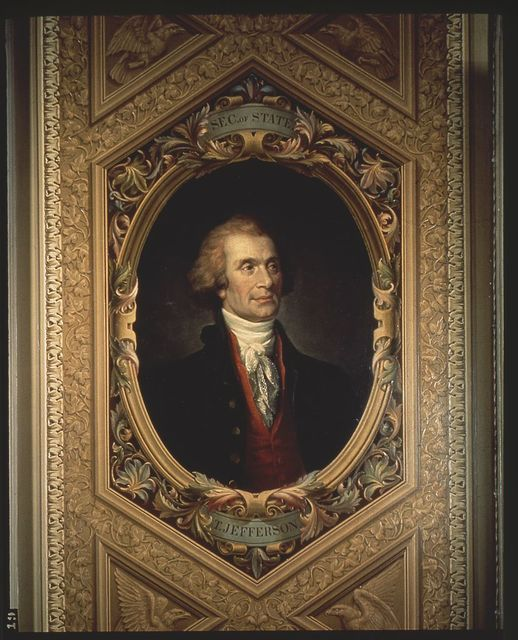 U.S. Capitol paintings. Thomas Jefferson, Secretary of State, close-up, painting in U.S. Capitol II