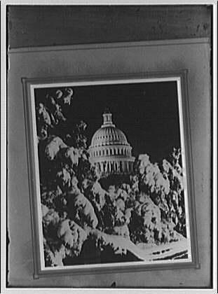 U.S. Capitol. U.S. Capitol at night in winter