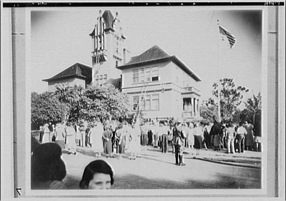 U.S. Chamber of Commerce. Demonstration and fire drill in Palo Alto, California