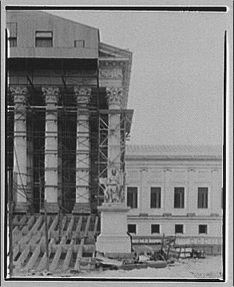 U.S. Supreme Court. Front facade of U.S. Supreme Court under construction II