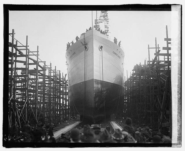 Va. ship launching of Clemence C. Morse (delivered)
