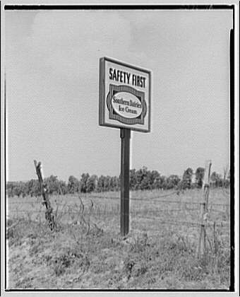 Vaughan Connelly. Sign, Southern Dairies ice cream I