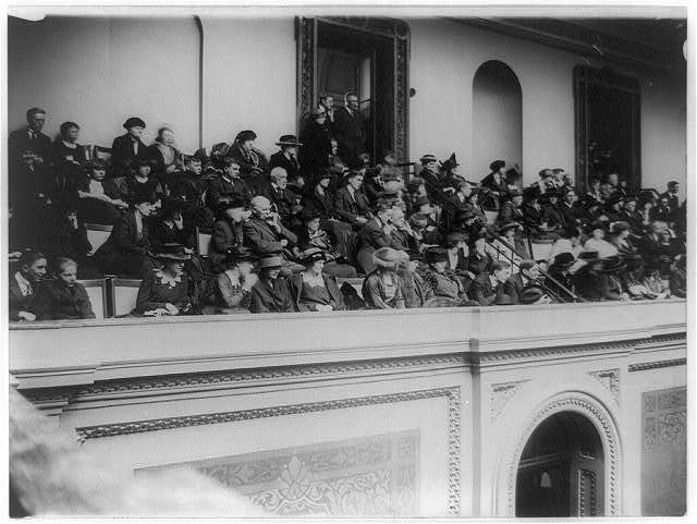 [Visitors in the U.S. House of Representatives Gallery at the opening]