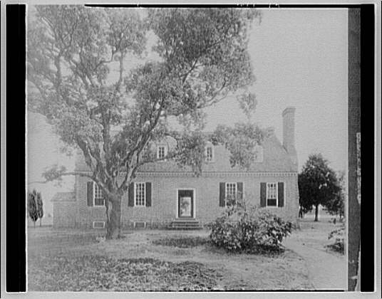 Wakefield, Washington's birthplace. View of Wakefield house and grounds from side