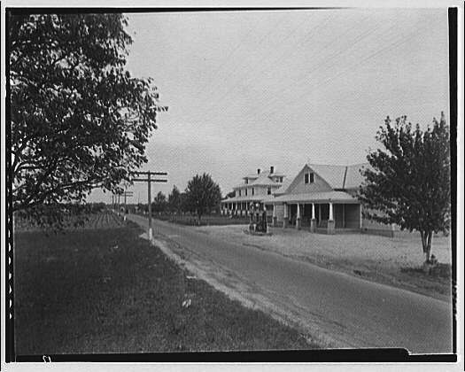 Waldorf, Maryland and vicinity. Gas station at right of road