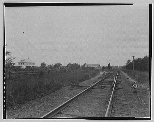 Waldorf, Maryland and vicinity. Railroad track with switchback