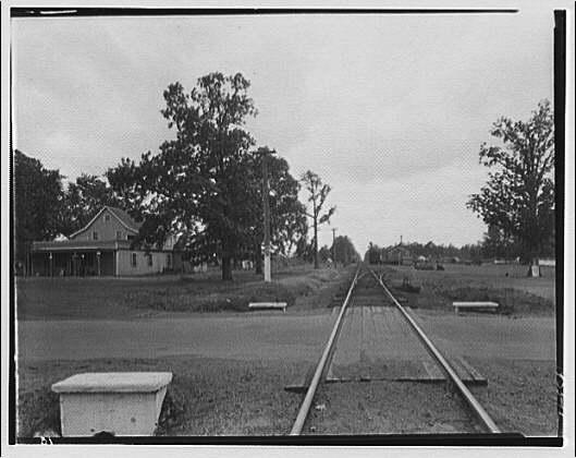 Waldorf, Maryland and vicinity. Railroad tracks intersecting road