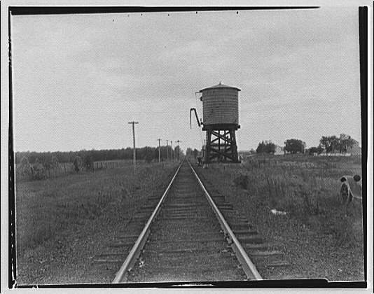 Waldorf, Maryland and vicinity. Railroad tracks with water tower I