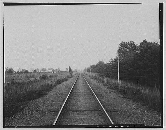 Waldorf, Maryland and vicinity. View down railroad tracks II