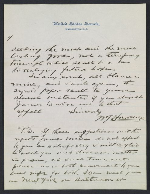Warren G. Harding-Carrie Fulton Phillips Correspondence: Correspondence and drafts of correspondence; 1920