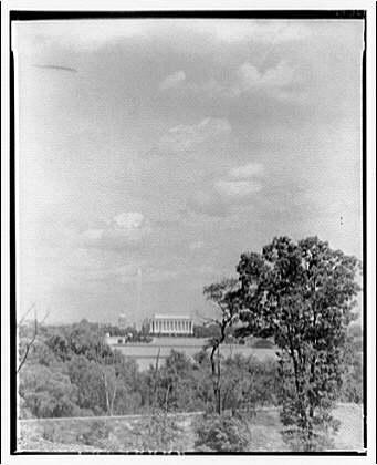 Washington, D.C. View from Virginia shore opposite Lincoln Memorial I
