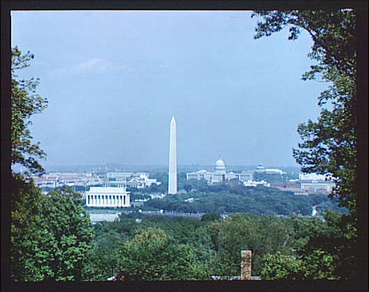 Washington, D.C. views. View of Washington, D.C. from Fort Myer IV