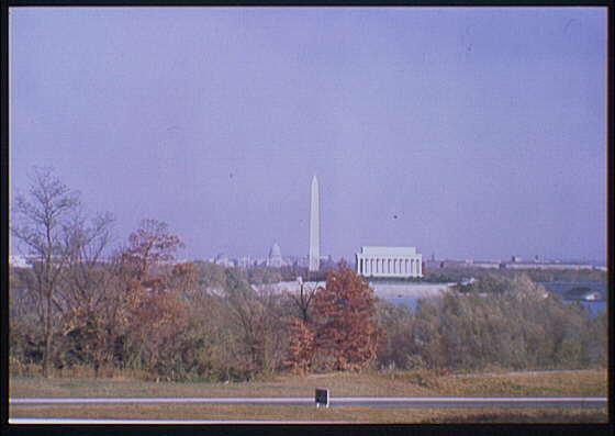 Washington, D.C. views. View of Washington, D.C. from George Washington Memorial Parkway II